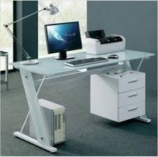 modern glass office desk full. modern glass desk office computer table white workstation with 3 drawer cabinet full