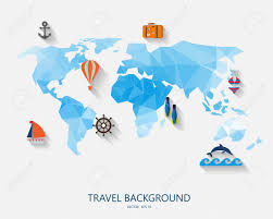 Map Of The World Background Travel Around The World Background Abstract Map Tourism Concept