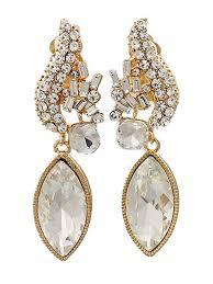 rhinestone clip on statement earrings vintage style rhinestone statement earrings