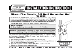 msd 5526 gm dual connector coil street fire installation user msd 5526 gm dual connector coil street fire installation user manual 2 pages