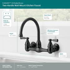 two handle wall mount kitchen faucet