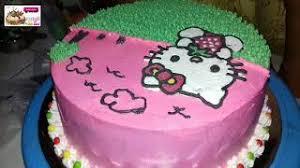Cara Menghias Kue Ulang Tahun Hello Kitty