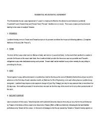 Standard Adobe Word Sample Rental Contract Template Lease ...