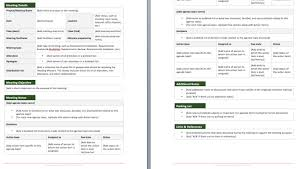 Create A Meeting Minutes Template In Ms Word