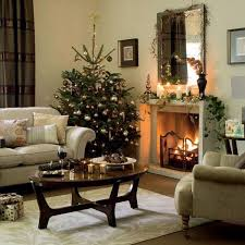 Living Room Christmas Decorating Christmas Decorations For Living Room Elegant White Fireplace Blue