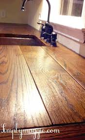 butcher block countertop via simplymaggie