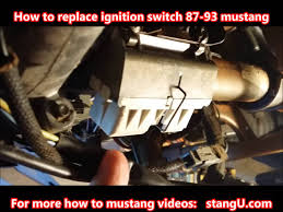 1987 1993 ford mustang ignition switch install how too youtube Mustang Ignition Switch Wiring Diagram 1991 Mustang Ignition Switch Wiring Diagram 1991 #44 67 Mustang Ignition Wiring Diagram