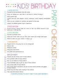 Party Planning Lists Free Printable Kids Party Planning Checklist Catch My Party