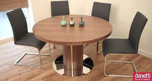 modern minimalist expandable round dining table set plans for room wooden with pedestal and stainless steel