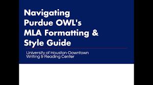 Purdue Owl Mla University Of Houston Downtown