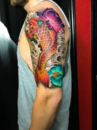 Coy Fish Tattoo Mike Evans Tattoo Japanese Tattoo Japan Koi