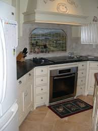 Country Kitchen oven, stove, range hood
