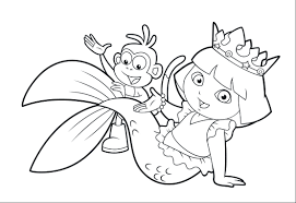 Dora Coloring Lots Of Dora Coloring Pages And Printables Dora