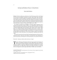 pdf life span and resiliency theory a