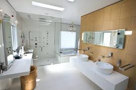 modern bathrooms. Modern Bathroom Design Master With Double Sink  Vanity And Mirror Built . Bathrooms