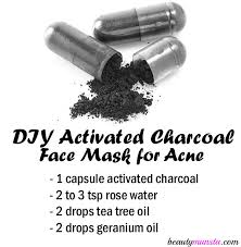 diy activated charcoal face mask for acne