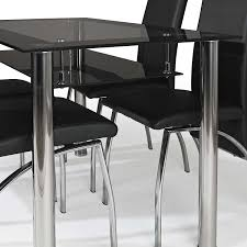 ebsa black glass dining table set and chairs room pictures on moderniquea black border glass dining