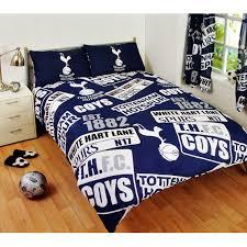 tottenham hotspur patch design double duvet bedding set