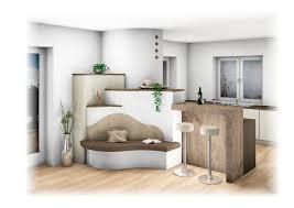 Landhaus Kachelofen Moderne Variante Mit Bank In 2019