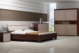 charming home interior bedroom design ideas with contemporary teak wooden furniture sets and nice white fur bedroom idea furniture small