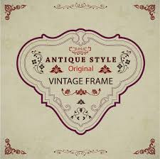 Vintage frame design with antique style Free vector in Adobe