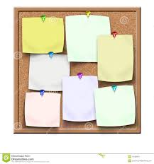 Notice Board Design Templates Board With Reminders Stock Illustration Illustration Of