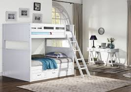 Taylor White Twin Over Full Bunk Bed from New Classic | Coleman ...