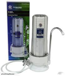 2 stage kitchen countertop water filter single filtration system with faucet trade me