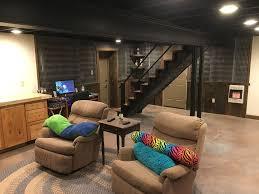 Black Basement Ideas Design Accessories  Pictures Zillow - Exposed basement ceiling