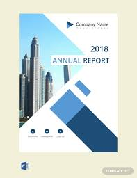 Free Annual Report Cover Page Template Word Template Net
