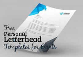 free personal letterhead free personal letterhead templates for events resources graphic