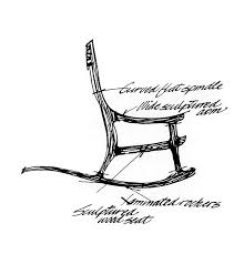 rocking chair sketch. Simple Sketch Maloofu0027s Most Famous Form Is Without Question His Rocking Chair The First  Of Which He Created In 1958 There A Distinct Sculptural Quality To  For Rocking Chair Sketch C