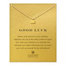 good luck necklace gold elephant