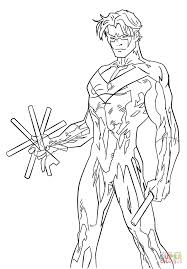 young justice nightwing coloring page justice league coloring pages