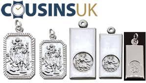 st christopher pendants rectangular