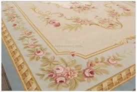 aubusson rug 10x14 blue cream pink