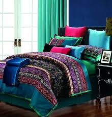 black purple teal toddler bedding
