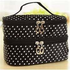 2016 new fashion portable colorful small dots toiletry makeup wash case handbag cosmetic bag gift high quality s385