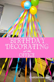 Birthday Decorating At The Office Cubical Desk Idea Surprise