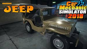 2018 jeep military. interesting military car mechanic simulator 2018  jeep dlc willys military 4x4 to jeep military