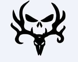 Small Picture Bone collector Style Buck and Skull camo decalsticker