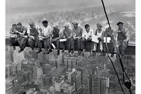 Resultado de imagen para la falta de vertigo de los constructores de los rascacielos de manhattan