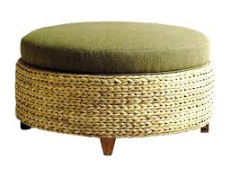 sea grass ottoman brothers co round ottoman ottoman pottery barn seagrass chair and ottoman