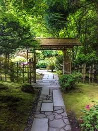 Small Picture Stone Pathway Gate Japanese Garden Portland Oregon Photo