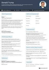 Resume In One Page Sample Onepage Trump Clinton Resumes Business Insider 20