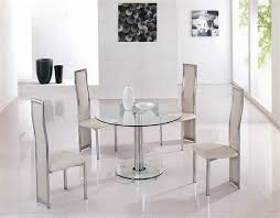 mini round glass dining table with 4 chairs