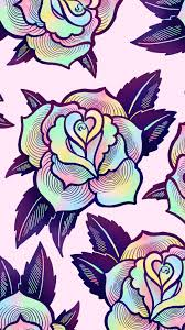 Cute, Colorful Psychedelic Rose ...