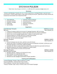 Licensed Massage Therapist Resume Examples Best Of Massage Therapist Resumes Best Lead Resume Example Livecareer 24