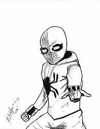 Kleurplaat Spiderman Homecoming Kleurplaten Tekeningen