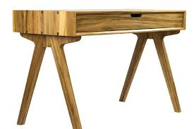 custom solid wood desk with waterfall edge dovetails and mid century modern vibe solid desk s37